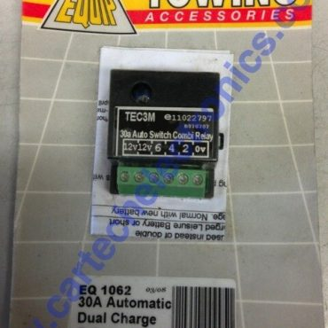 Towing Accessories EQ 30A Automatic Dual Charge Relay, supplied brand new with instructions.