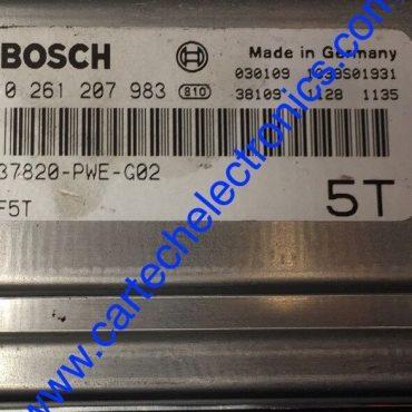 Bosch Engine ECU, Honda, 0261207983, 0 261 207 983, 37820-PWE-G02