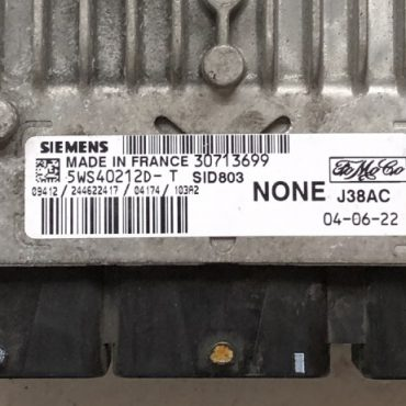 Volvo V50 2.0D, 5WS40212D-T, NONE, 30713699, J38AC