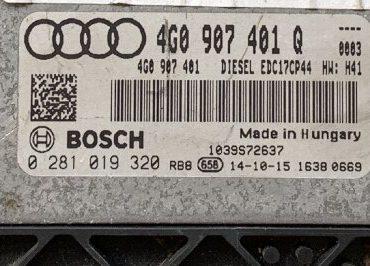 Audi A6 / A7 3.0 TDI, 0281019320, 0 281 019 320, 4G0907401Q, 4G0 907 401 Q, EDC17CP44