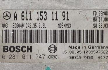 Mercedes-Benz CDI, 0281011747, 0 281 011 747, A6111531191, A 611 153 11 91, CR2.35
