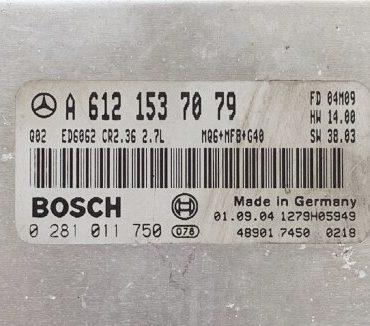 Mercedes-Benz, 0281011750, 0 281 011 750, A6121537079, A 612 153 70 79, CR2.36