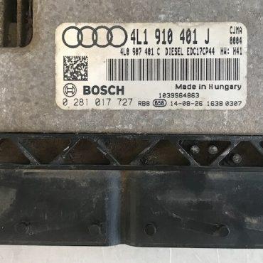 Bosch Engine ECU, Audi Q7 3.0 TDI, 0281017727, 0 281 017 727, 4L1910401J, 4L1 910 401 J, EDC17CP44
