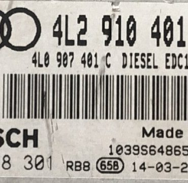 Engine ECU, Audi Q7 3.0 TDI, 0281018301, 0 281 018 301, 4L2910401B, 4L2 910 401 B, 4L0907401C, 4L0 907 401 C, EDC17CP44