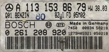 Mercedes-Benz, 0261208920, 0 261 208 920, A1131538679, A 113 153 86 79