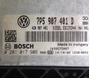 Porsche Cayenne 3.0 , 0281017906, 0 281 017 906, 7P5907401D, 7P5 907 401 D, EDC17CP44