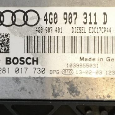 Audi A6, A7 3.0 TDI, 0281017730, 0 281 017 730, 4G0907311D, 4G0 907 311 D, EDC17CP44