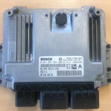 Bosch Engine ECU, Peugeot/Citroen 1.6 Turbo, 0261201864, 0 261 201 864, 9664852880, 96 648 528 80, MED174, 1039S23363