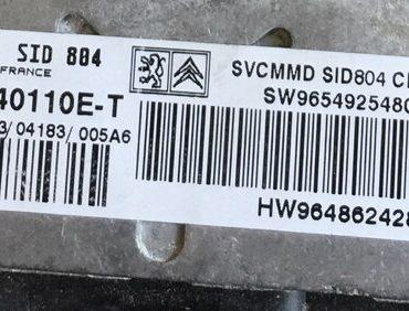 SID 804, 5WS40110E-T, SW9654925480, HW9648624280