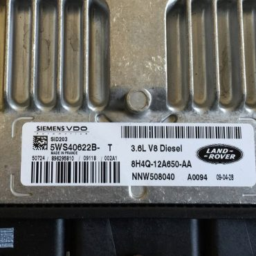Land Rover 3.6D V8, 5WS40622B-T, 8H4Q-12A650-AA, NNW508040, SID203