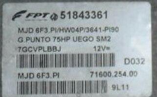 Fiat Punto 1.3 JTD, 51843361, 71600.254.00, MJD 6F3.PI