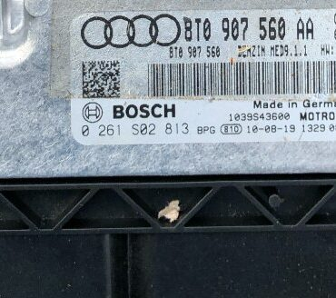 Bosch Engine ECU, 0261S02813, 0 261 S02 813, 8T0907560AA, 8T0 907 560 AA, MED9.1.1, 1039S43600