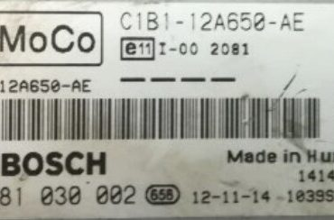 Bosch Engine ECU, Ford Fiesta 1.5TDCi, 0281030002, 0 281 030 002, C1B1-12A650-AE, 1039S56297