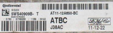Siemens Engine ECU, Ford TDCI, SID206, 5WS40909B-T, AT11-12A650-BC, AT1112A650BC, ATBC