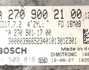 Mercedes-Benz, 0261S09816, 0 261 S09 816, A2709002100, A 270 900 21 00