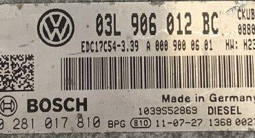 VW Crafter 30/35/50 2.0 TDI, 0281017810, 0 281 017 810, 03L906012BC, 03L 906 012 BC, 1039S52869, EDC17C54