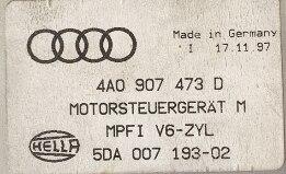Hella, Audi A4 2.6, 4A0907473D, 4A0 907 473 D