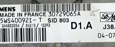 SID 803, 30729065A, 5WS40092I-T, D1.A
