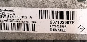 Renault, SID 306, S180095132 A, 237102597R, 23710225R