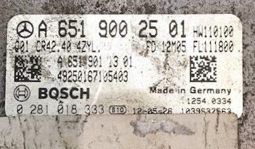 Mercedes-Benz GLK 200/220/250, 0281018333, 0 281 018 333, A6519002501, A 651 900 25 01, CR42.40 4ZYL
