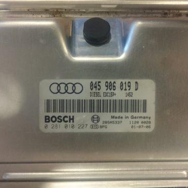 Audi A2 1.2 TDI, 0281010227, 0 281 010 227, 045906019D, 045 906 019 D, EDC15P+