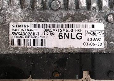 Ford TDCi, 5WS40028H-T, 3M5A-12A650-HG, 6NLG, SID 803, J38AC
