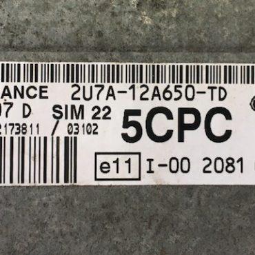 Ford, 2U7A-12A650-TD, 5CPC, S118107007 D, SIM 22
