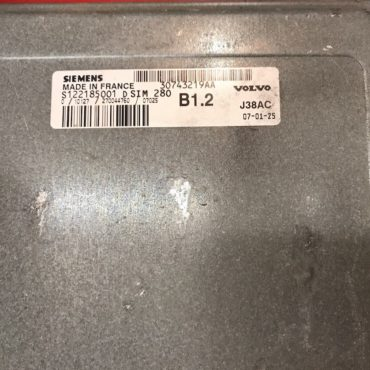 Volvo C30 1.6, 30743219AA, S122185001D, S122185001 D, B1.2, J38AC, SIM280