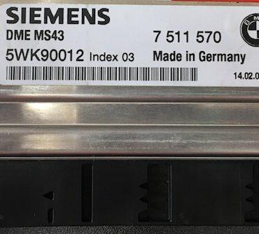 BMW, 7511570, 7 511 570, 5WK90012, Index 03, DME MS43