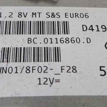 Ford Ka 1.2 8V, 51981640, BC.0116860.D, 9GF.TK