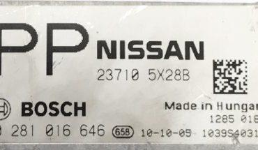 Nissan Navara / Pathfinder 3.0 dCi, 0281016646, 0 281 016 646, 237105X28B, 23710 5X28B