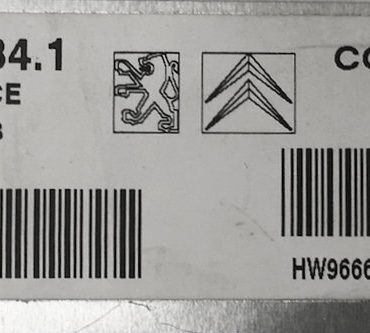 Peugeot 208 1.4, V34.1, V29009427A, V29009427 A, CMDE9675916480, HW9666591380