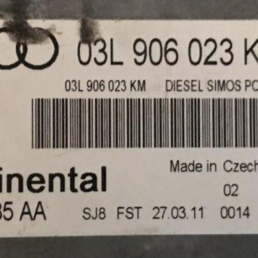 Audi, 03L906023KN, 03L 906 023 KN, 5WP42885AA, 5WP42885 AA, DIESEL SIMOS PCR2.1