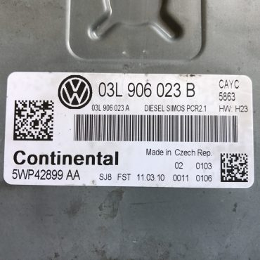 VW Golf VI 1.6TDI, 03L906023B, 03L 906 023 B, 03L906023A, 03L 906 023 A, 5WP42899AA, 5WP42899 AA, DIESEL SIMOS PCR2.1