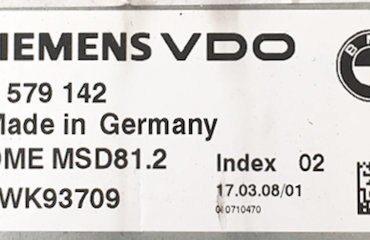 7579142, 7 579 142, DME MSD81.2, INDEX 02, 5WK93709
