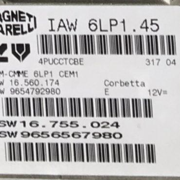 Citroen / Peugeot, IAW 6LP1.45, HW 16.560.174, HW 9654792980, SW 16.755.024, SW 9656567980