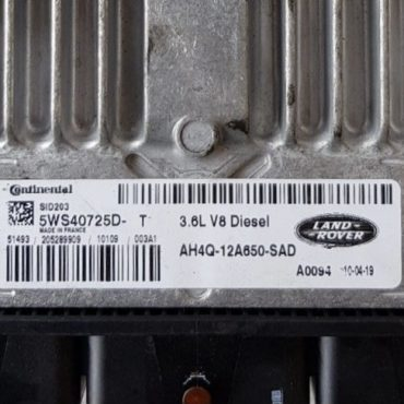 Land Rover 3.6D V8 Diesel, 5WS40725D-T, AH4Q-12A650-SAD, SID203