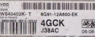 Ford, SID206, 5WS40402K-T, 6G91-12A650-EK, 4GCK, J38AC
