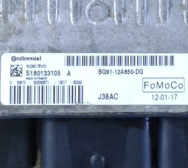 Ford, SID807EVO, J38AC, S180133105 A, BG91-12A650-DG