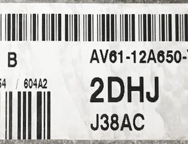 Ford, SID807EVO, J38AC, S180133044 B, AV61-12A650-YJ, 2DHJ