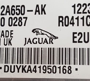 Jaguar, 4X43-12A650-AK, 12235713, R0411C019H, E2U9A, DUYK