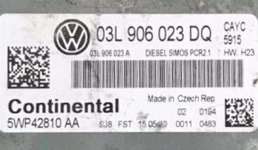 Golf 1.6 TDi, 03L906023DQ, 03L 906 023 DQ, 5WP42810 AA, DIESEL SIMOS PCR2.1