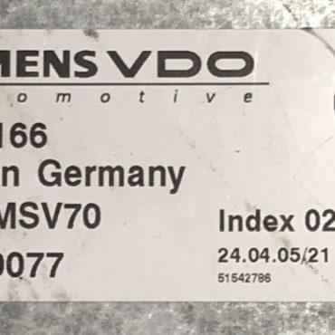 BMW 325i, DME MSV70, 7553166, 7 553 166, 5WK90077, INDEX 02