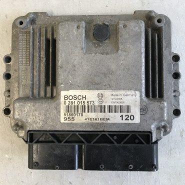 Bosch Engine ECU, Alfa Romeo MiTo 1.6 JTD , 0281015573, 0 281 015 573, 51860178