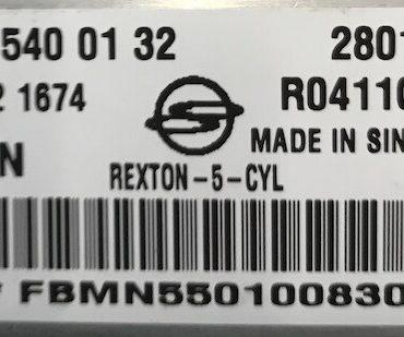 Delphi Engine ECU, Ssangyong Rexton 2.7 xdi, A6655400132, A665 540 01 32, 28019193, R0411C025J, FBMN