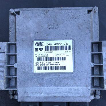 Magneti Marelli Engine ECU, Citroen C2/Peugeot 206 1.1, IAW 48P2.76, HW 16.623.004, HW 9645989480, SW 16.495.074, SW 9652488080