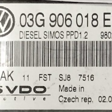 VW / SKODA, 5WP45521AK, 5WP45521 AK, 03G906018EL, 03G 906 018 EL, PPD1.2