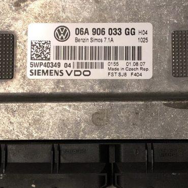 VW, Simos 7.1A, 06A906033GG, 06A 906 033 GG, 5WP40349 04