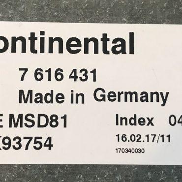 BMW, 7616431, 7 616 431, DME MSD81, 5WK93754