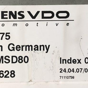 BMW, 7575875, 7 575 875, DME MSD80, 5WK93628, INDEX 02